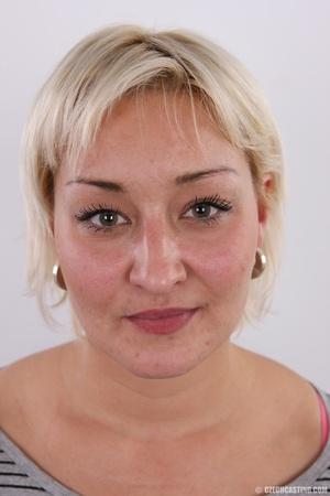 Short hair chubby matured blonde with bi - XXX Dessert - Picture 1