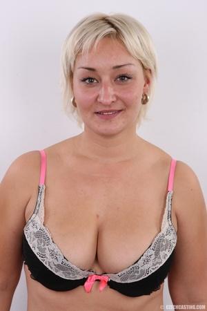 Short hair chubby matured blonde with bi - XXX Dessert - Picture 6