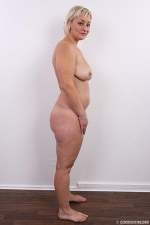 Short hair chubby matured blonde with bi - XXX Dessert - Picture 15