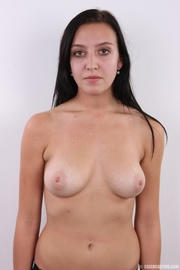 young shy chick with