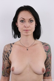 chick with colorful tattoos