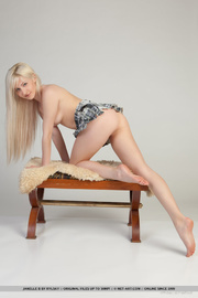 young slim sexy blonde
