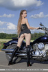 sexy young biker chick