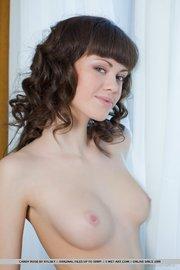 lovely brunette shows off