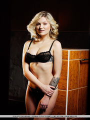 hot seductive blonde with