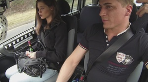 Taxi driver seduces cute brunette and fu - XXX Dessert - Picture 4