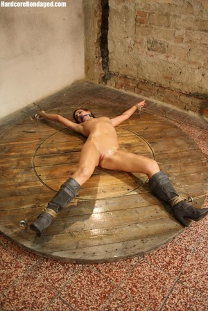 Horny gag wearing cuffed sweaty slave wi - XXX Dessert - Picture 2