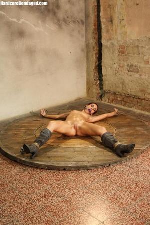 Horny gag wearing cuffed sweaty slave wi - XXX Dessert - Picture 4