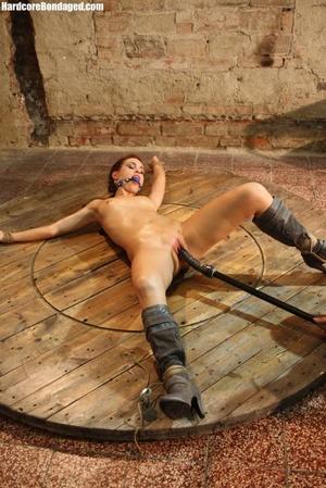 Horny gag wearing cuffed sweaty slave wi - XXX Dessert - Picture 6