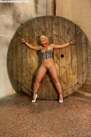 Sexy corset wearing blonde sex-slave get - XXX Dessert - Picture 2