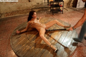 Sweaty gag wearing bondaged redhead with - XXX Dessert - Picture 8