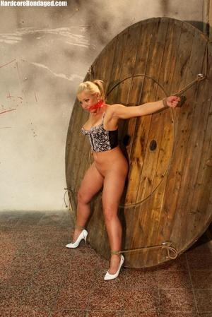 Sexy corset wearing blonde sex-slave get - XXX Dessert - Picture 3