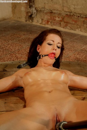 Sweaty gag wearing bondaged redhead with - XXX Dessert - Picture 9