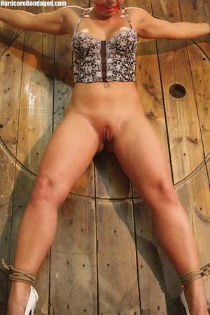 Sexy corset wearing blonde sex-slave get - XXX Dessert - Picture 5