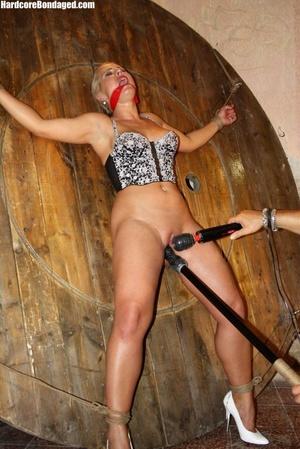 Sexy corset wearing blonde sex-slave get - XXX Dessert - Picture 12