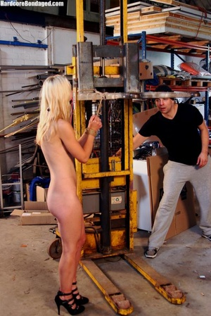 Innocent blonde sex-slave bondaged on a  - XXX Dessert - Picture 2