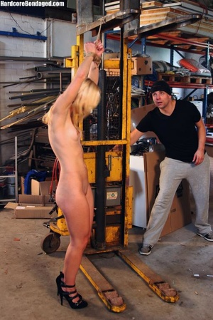 Innocent blonde sex-slave bondaged on a  - XXX Dessert - Picture 3