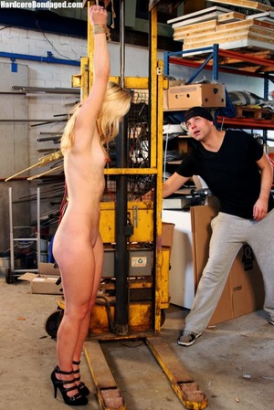 Innocent blonde sex-slave bondaged on a  - XXX Dessert - Picture 4