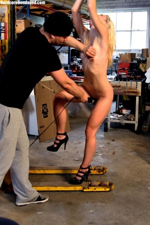 Innocent blonde sex-slave bondaged on a  - XXX Dessert - Picture 8