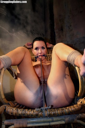 Gag slut is tied up to granny's chair an - XXX Dessert - Picture 3