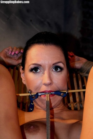 Gag slut is tied up to granny's chair an - XXX Dessert - Picture 4