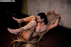 Gag slut is tied up to granny's chair an - XXX Dessert - Picture 8