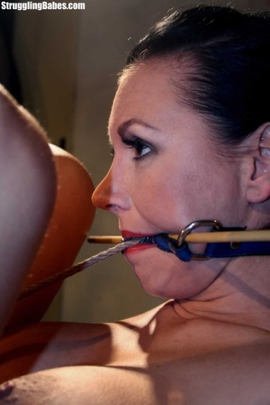 Gag slut is tied up to granny's chair an - XXX Dessert - Picture 10