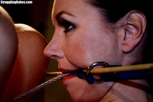 Gag slut is tied up to granny's chair an - XXX Dessert - Picture 11