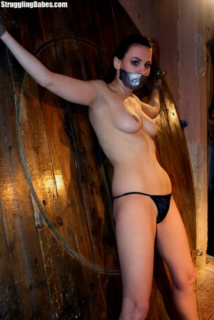 Brunette whore gets tied and used rough - XXX Dessert - Picture 2