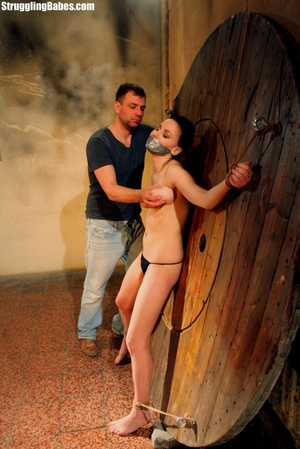 Brunette whore gets tied and used rough - XXX Dessert - Picture 9
