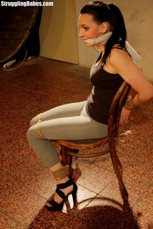 Complete slut gets bound to a chair and  - XXX Dessert - Picture 4