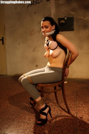 Complete slut gets bound to a chair and  - XXX Dessert - Picture 8