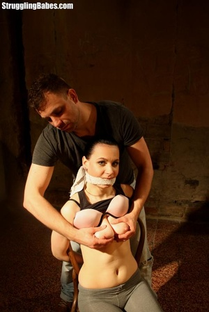 Complete slut gets bound to a chair and  - XXX Dessert - Picture 10