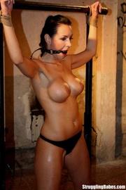 stunning brunette roped rack