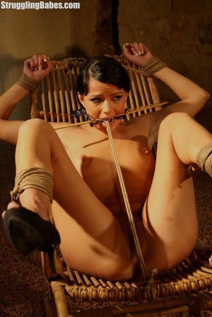 Hot brunette gets punished and roped to  - XXX Dessert - Picture 3