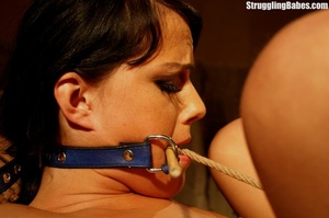 Hot brunette gets punished and roped to  - XXX Dessert - Picture 6