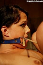 hot brunette gets punished