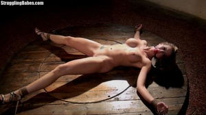 Hot curvy slut is tied to wheel and abus - XXX Dessert - Picture 9