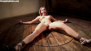 Hot curvy slut is tied to wheel and abus - XXX Dessert - Picture 11
