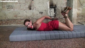 Hogtied whore tries to scream through he - XXX Dessert - Picture 2