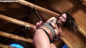 Useless whore gets tied standing and lef - XXX Dessert - Picture 12