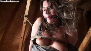 Useless whore gets tied standing and lef - XXX Dessert - Picture 25