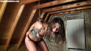 Useless whore gets tied standing and lef - XXX Dessert - Picture 27