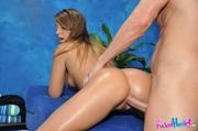 sportie girl gets massaged