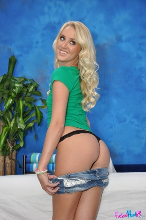 Tiny blonde wearing black pants loves hi - XXX Dessert - Picture 2