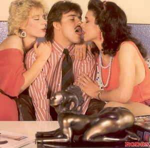 Horny mustache man banged by two sexy re - XXX Dessert - Picture 3