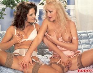 Two retro lesbians stroking each others  - XXX Dessert - Picture 5