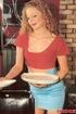 A pretty retro waitress fucking the horny chef hardcore