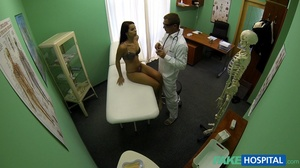 Hot brunette gets seduced by horny docto - XXX Dessert - Picture 3