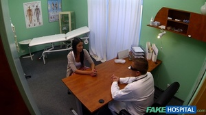Brunette chick gives head to a doctor be - XXX Dessert - Picture 2